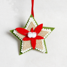 Handmade Christmas Felt Star Decoration Pendant