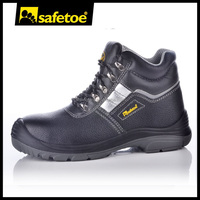 New design steel toe leather soft sole safety shoes