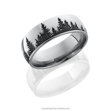 8mm laser tree create your own wedding band men band ring