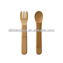 Cheap bamboo knife fork spoon
