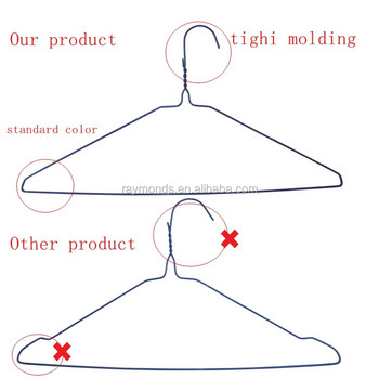 Factory powder coated wire hangers for laundry