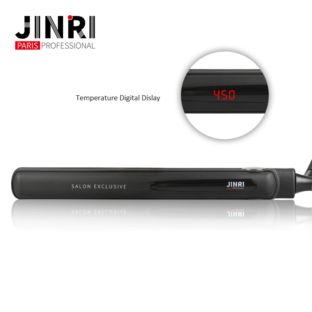 Top Selling Hair Salon Tools LED display hair straightener Titanium flat Iron plate