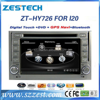 Touch screen Car dvd gps for Hyundai I20 2008-2012 car auto dvd cd player made in China ZT-HY726