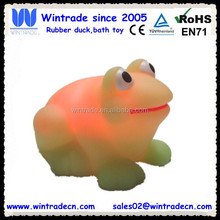Promotional Custom Floating Bath Frog Vinyl Rubber Toy OEM 6P PVC