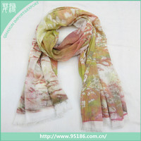 Chinese Hot Sale Women Autumn Winter print oblong pashmina scarf