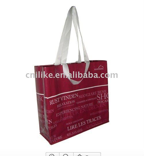 Hot sale pp woven shopper bag