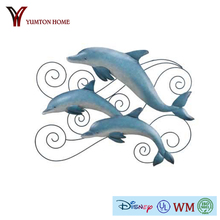 High quality modern style three metal Dolphins wall art decor