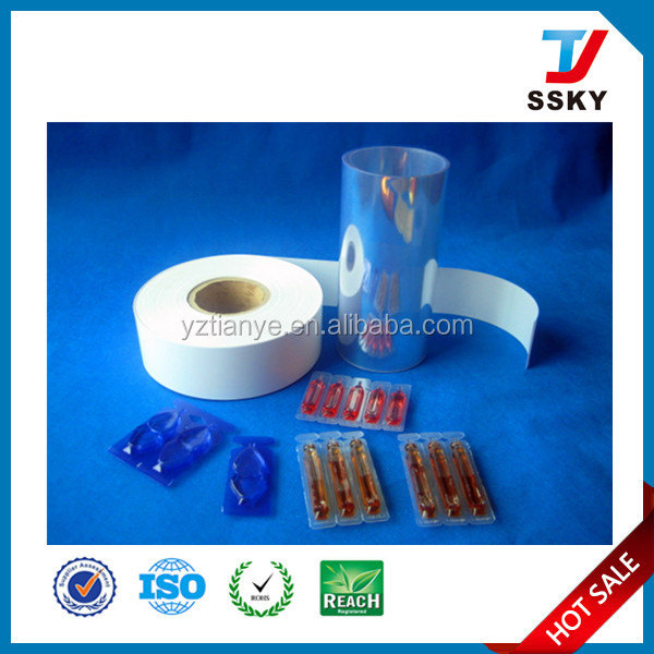 Pharma grade PVC/PE film for suppository packaging film