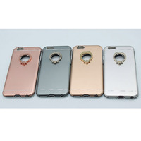 Head ring metal holder pc phone case for iphone 6/6s/6 plus