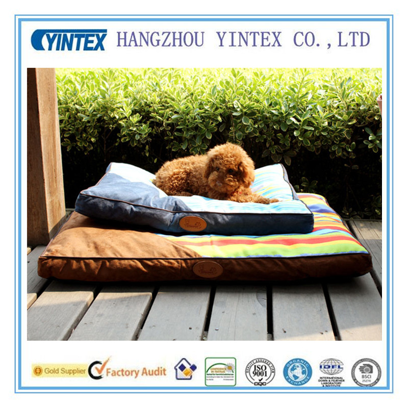 Waterproof large square pet beds dog bed