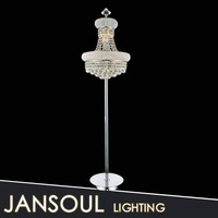 new design crystal cover led floor torchiere lamp