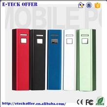2017 popular New design hot sale mobile power bank colorful for mobile phone power bank 2000mah with logo made in China