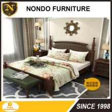 full size american style antique expensive bedroom furniture bedroom solid wood bed JDB-1