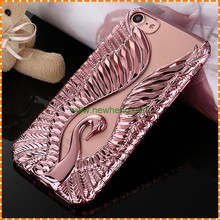 Luxury 3D Swan TPU Crystal Mobile Phone Case for iPhone 7 7 plus