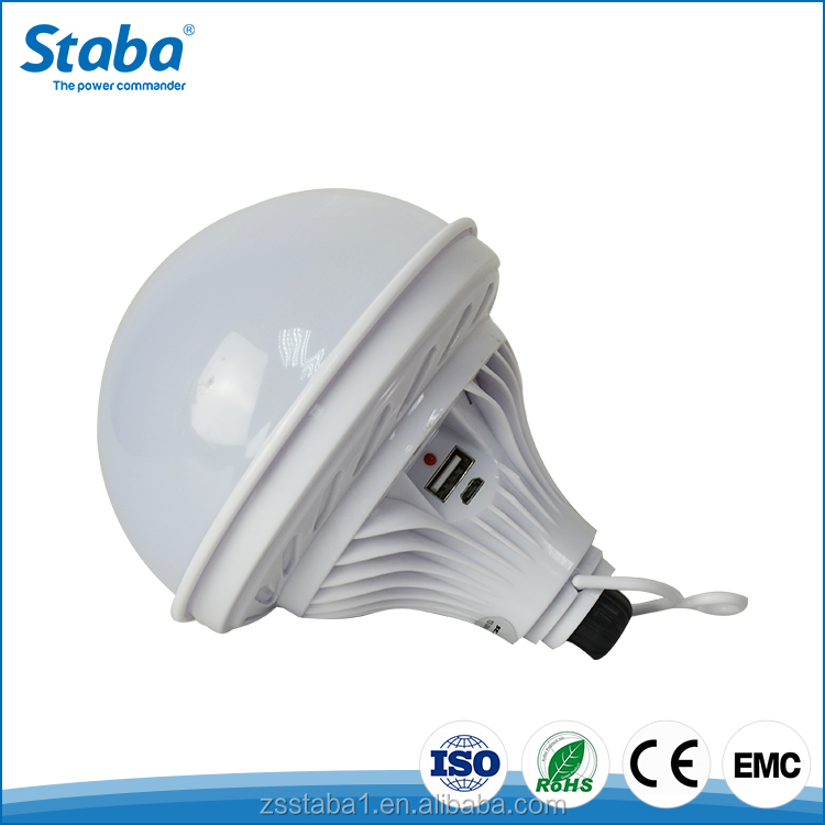 Staba 3.7V 8W ABS+PC material USB rechargeable emergency 2835 led bulb lamp light
