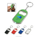 2 in 1 Beer Bottle Opener LED Light Lamp Key Chain Ring
