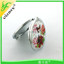 Wholesale High quality Plain Metal Round Pocket Mirror
