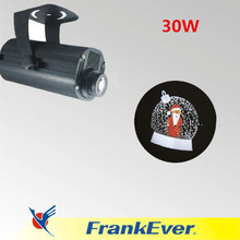 FRANKEVER 30W Christmas projector light four image rotating aroundled gobo projector