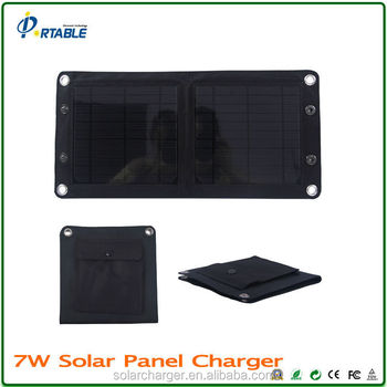 factory supply mono USB 7W 5.5V foldable solar phone charger, solar charger/solar mobile phone charger