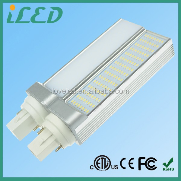 High Brightness 1200lm 600-6500K Cool White 2pin 4pin LED PL Lamp 277V 12W LED G24