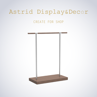 Fashion Standard Wooden Clothes Display Stand