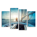 Sailing Boat Modern Giclee Art Prints Customized Photo Printing Home Wall Decoration Painting Stretched Ready to Hang on