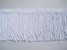 4 INCH WHITE RAYON CHAINETTE FRINGE FOR DRESSES