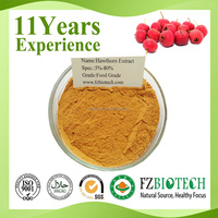 China Supplier Wholesale Food Grade 100% Pure Berry And Leaf Natural Hawthorn Extract