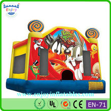 Looney Tunes bouncy castle, Looney Tunes castle slide combo, Looney Tunes jump bounce house