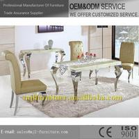 Fashion classical 2015 dubai dining tables and chairs