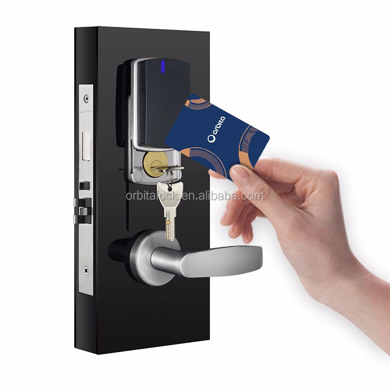 Orbita Best Quality Waterproof Electronic RF Card Hotel Lock with Power Saver Switch