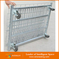 Large Welded Wire Mesh Folding Forklift Safety Storage Iron Cage