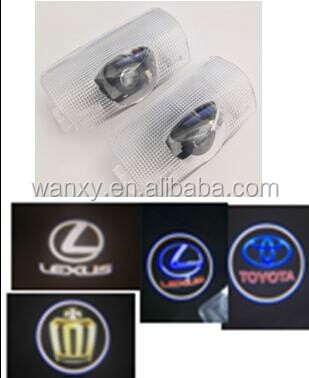 For Toyota led door courtesy light with car logo led logo light for Toyota