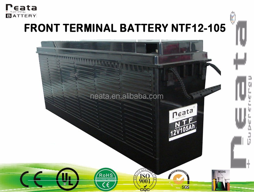 maintenance free front terminal storage 12v 105ah battery