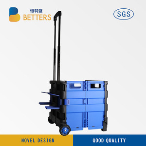 Folding Boot shopping Cart /Trolley/ Crate Shopping Trolley on Wheels