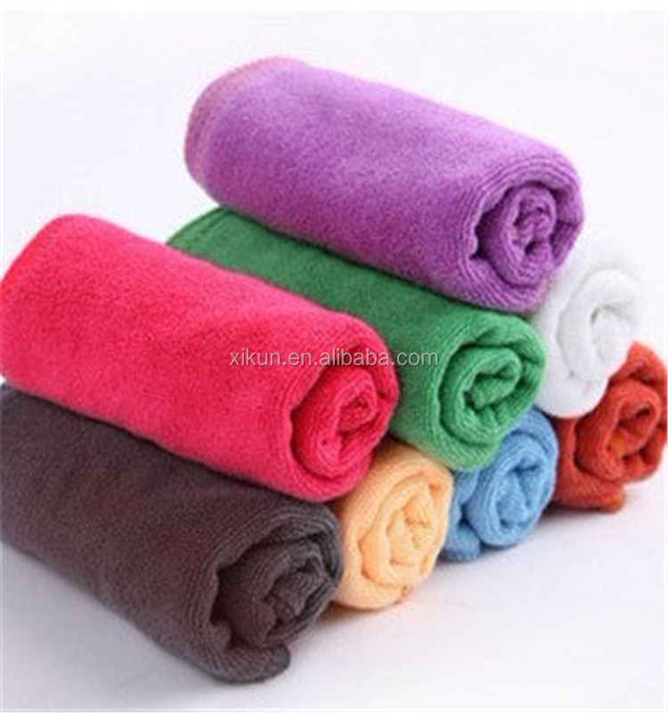 80% polyester and 20% nylon solid color plush microfiber towel for wash car