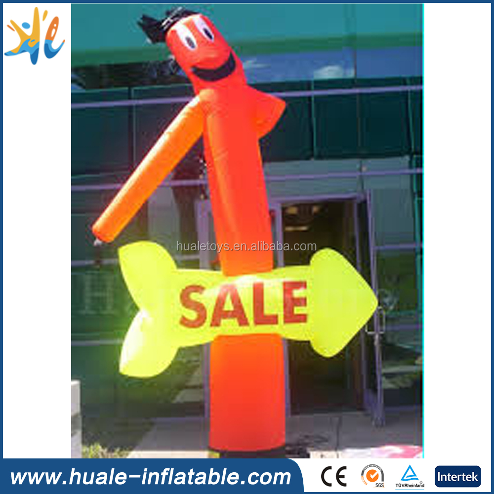 American Flag Indoor Inflatable Air Dancers / Inflatable Tube Man For Advertising