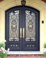 Beautiful Arched shape lowes wrought iron security screen doors