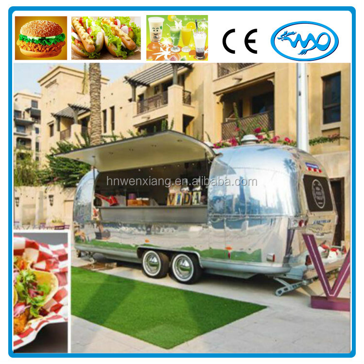 4*2*2.2M food kiosk outdoor mobile food trailer for UK