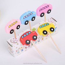 Cartoon Car Baby Child Happy Birthday Party Sparkle Candle Cake decoration 5pcs/PACK