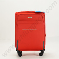 2016 Red 3pcs Flight nylon matreial trolley luggage bag