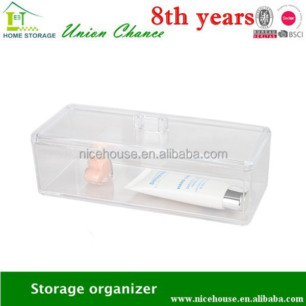 clear makeup organizer for your neat room, plastic storage box organize all your little stuffs