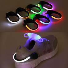 LED Shoes Cycling Shoes Clip Bike Lights Night Safety Warning LED Bright Flash Light For Running