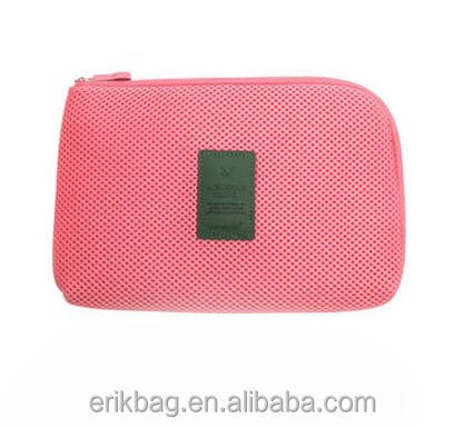 High Quality Super Light Compact Size Air Mesh Cosmetic Bag for Travel