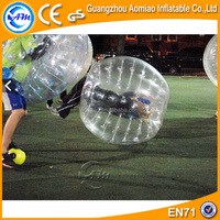 Clear Plastic bubble ball for football / human sized soccer bubble ball for sale