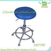 Newest stainless steel base bar stool leather chair stainless steel lab stool