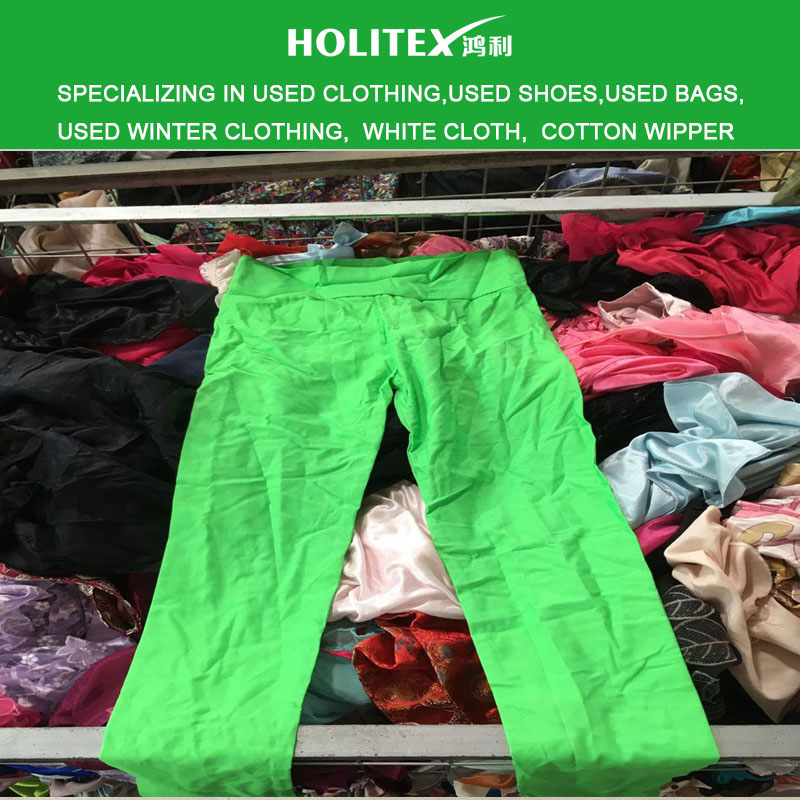 Guangzhou wholesale mixed type second hand clothing to African markets used women legging with cheap price