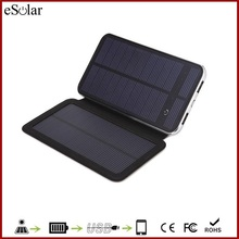 High Quality mobile solar charger with foldable solar panel , cheapest 10000mAh solar mobile charger cover for smartphone