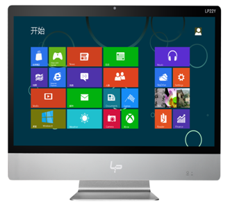 21.5 inch all in one pc with tangible screen and factory price