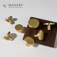 Modern Design Round Brass Furniture Handle Knob Kitchen Knob Copper Handle
